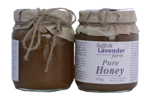 Pure Honey 454g from Bees Fed on Lavender
