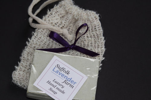 Lavender Soap in Agava Sisala Bag