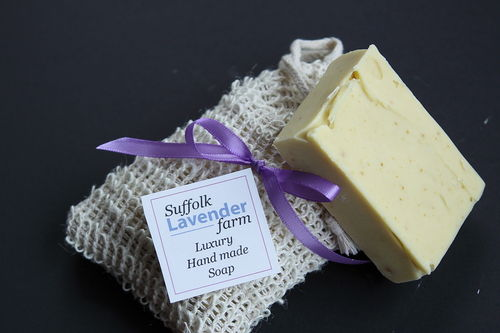 Lavender and Lemon Soap in Sisal Bag